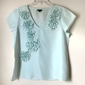 Talbots Tops - Talbots 100% Silk Hydrangea Detail Top